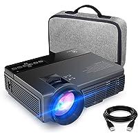 VANKYO Leisure 3 Vidéoprojecteur Portable 2400 Lumens Rétroprojecteur LED Mini Projecteur LCD Supporte 1080P Compatible avec Fire TV Stick / PC / Télé pour Cinéma Privé / Jeu Vidéo /FIFA Noir
