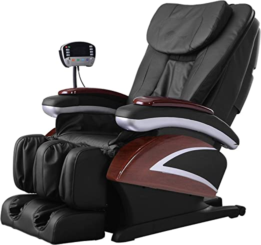 Full Body Electric Shiatsu Massage Chair Recliner With Built In Heat Therapy Air Massage System Stretch Vibrating For Home Office Living Room Black