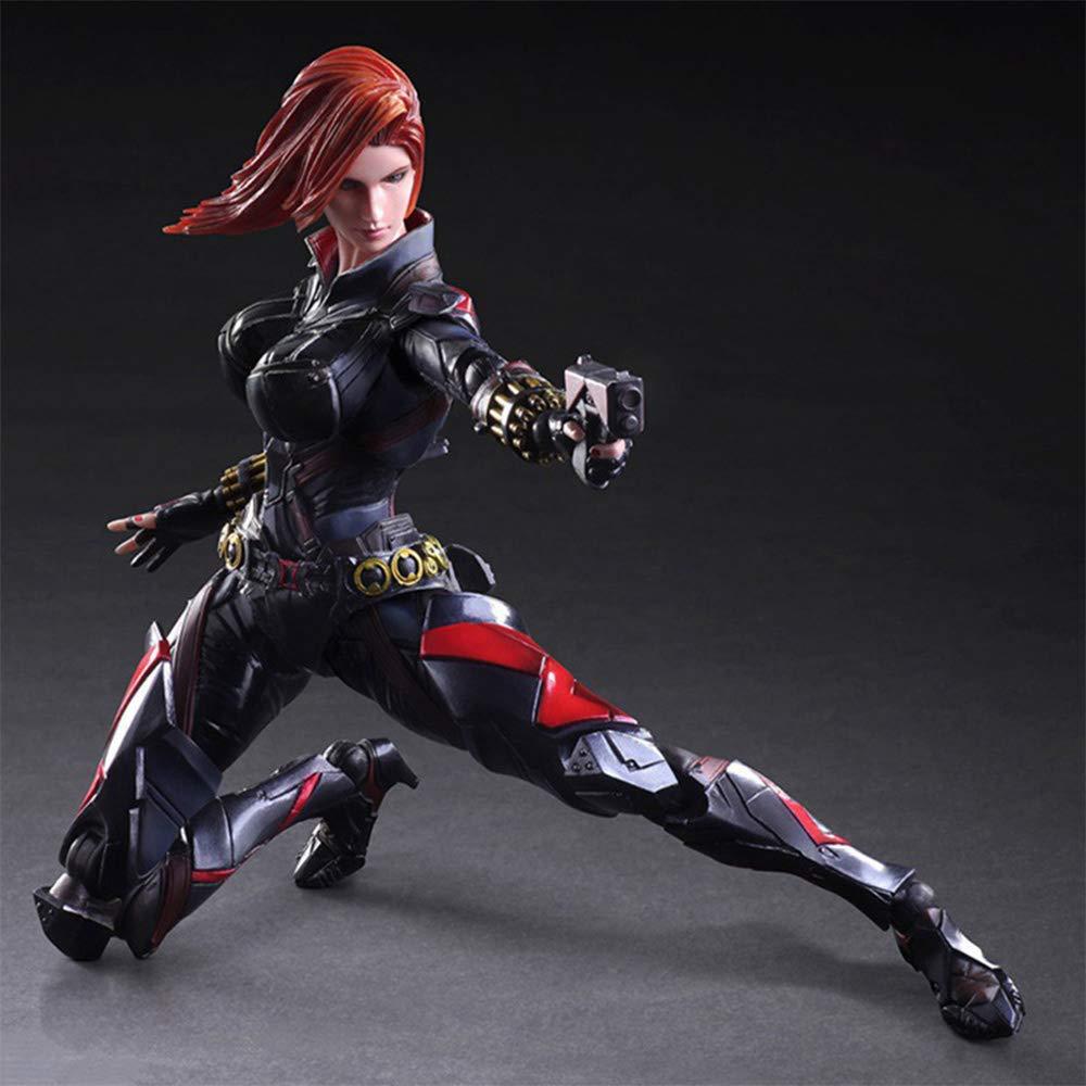 RLJqwad Marvel Toy schwarz Widow Modell Avengers Modell schwarz Widow Toy Modell Anime Modell 27cm Modell schwarz Widow schwarz Widow