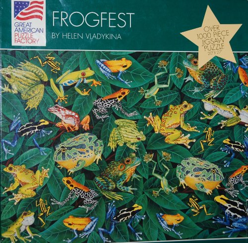 "FROGFEST by Helen Vladykina 1000 Piece Puzzle 20""x27"""