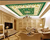 LWCX Custom 3D Ceiling Murals Wallpaper The Pattern of Ceramic Tile 3D Wallpaper for Ceiling Wallpapers for Living Room 3D Ceiling 150X105CM