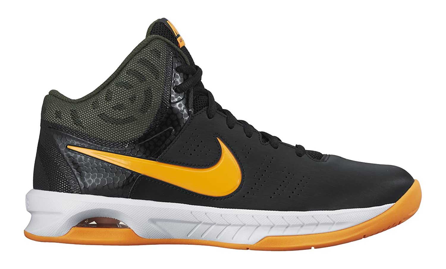 fbe2275d364 Nike Men s Air Visi Pro VI Black Orange Lace Up Basketball Shoes free  shipping