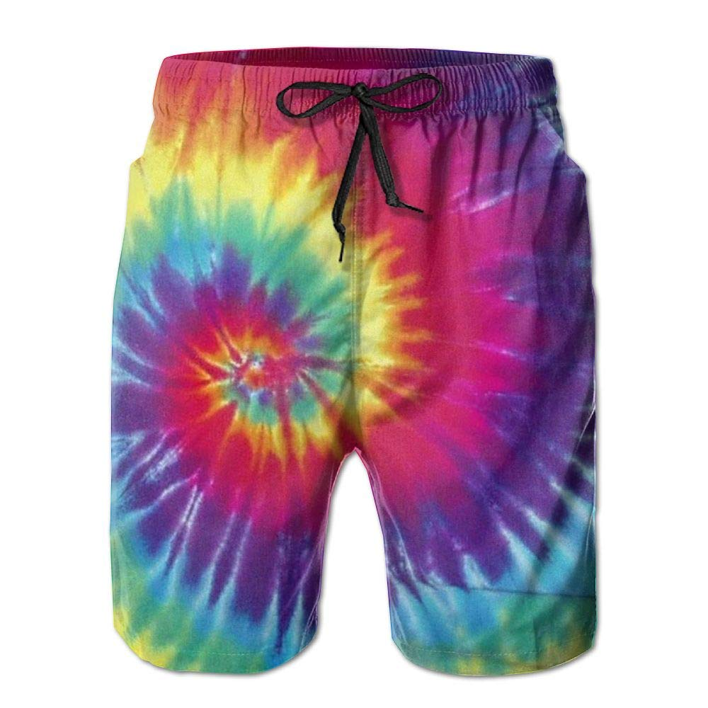 ee02aa6a2b Amazon.com: CMEY Men's Board Shorts Pastel Rainbow Tie Dye Swim Trunks  Summer Beach Shorts: Clothing