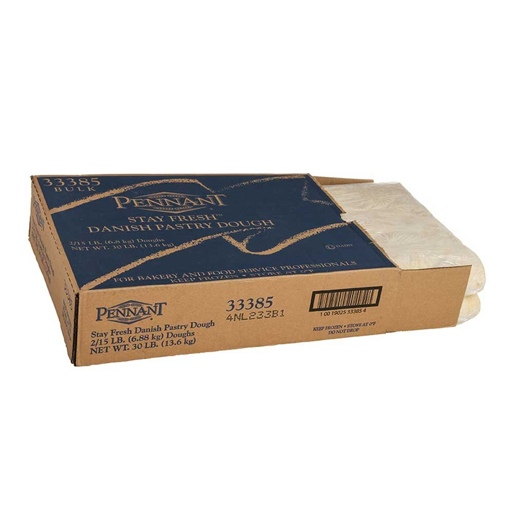 Pennant Foods Flat Stay Fresh Danish Dough, 15 Pound -- 2 per case. by Pennant Foods
