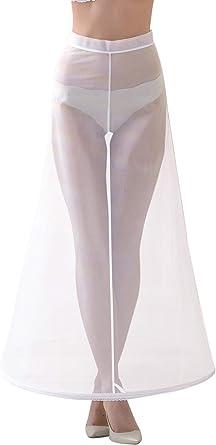 Lacey Bell Women Wedding One Hooped Petticoat Underskirt Half Slips Velcro Waist Closure R4-190