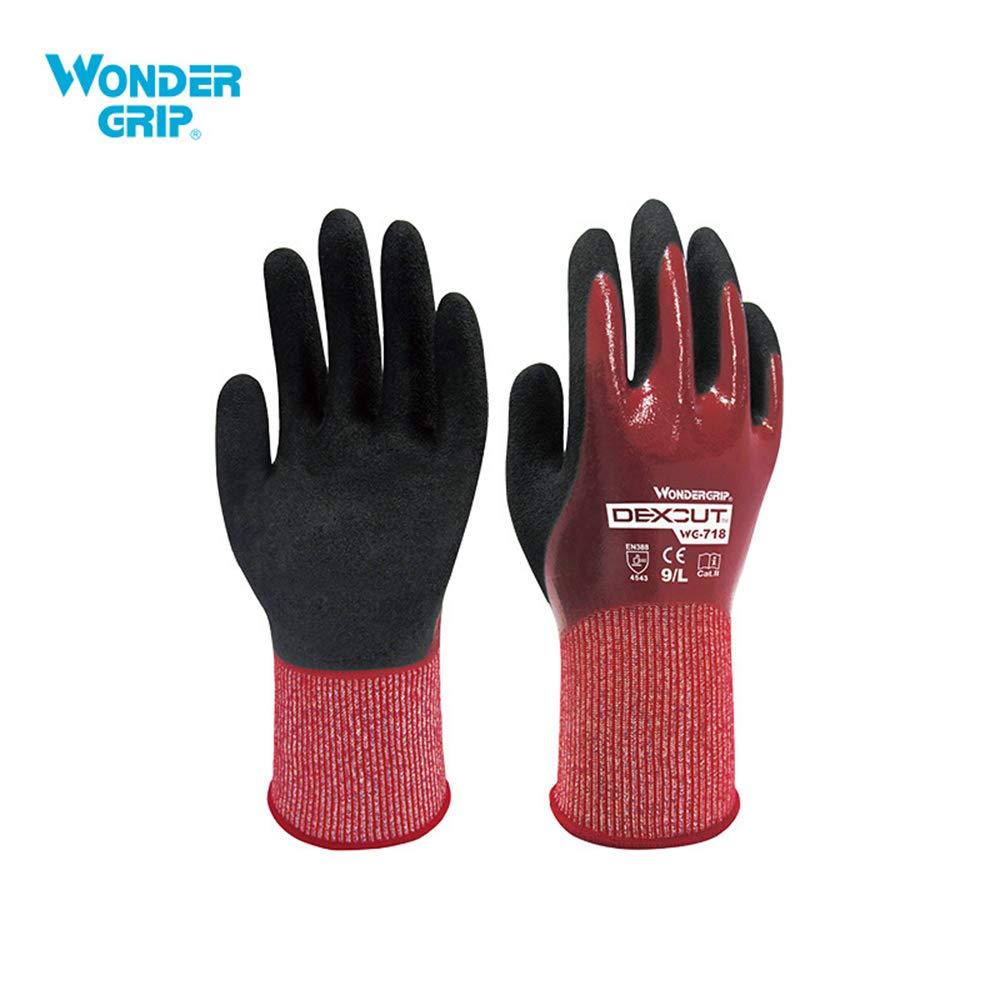 Wonder Grip Guantes de Seguridad Anticorte Nivel 5 HPPE Nivel 4 de Resistente a Abrasi/ón Guante de Jardiner/ía Guantes de Trabajo Universales