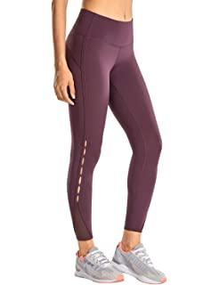 CRZ YOGA Womens Sports 4-Way-Stretch Mesh Tights Workout ...