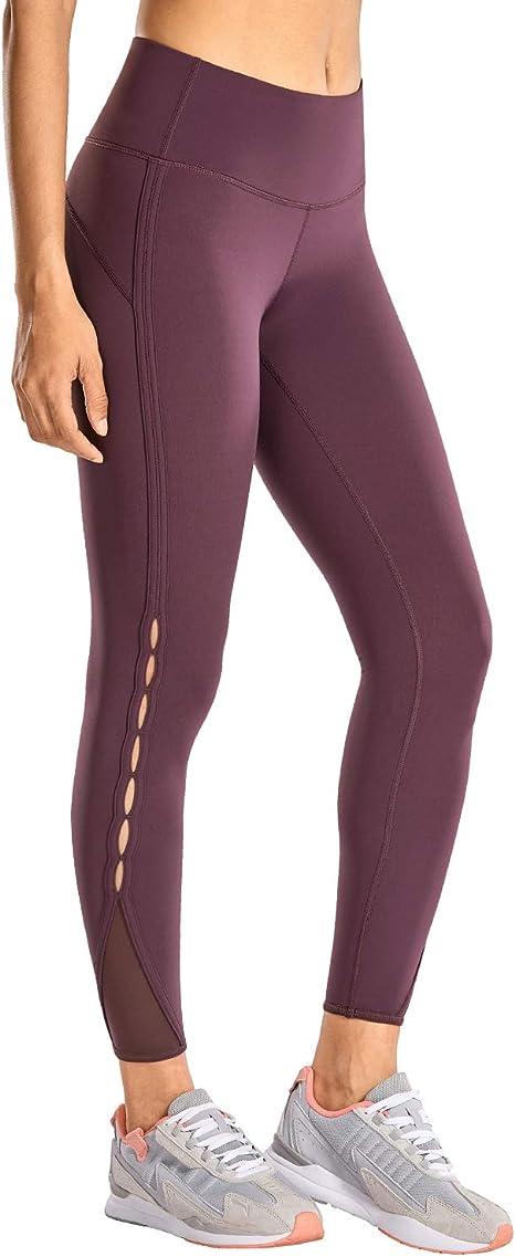 CRZ YOGA Womens Naked Feeling High Waist 7/8 Tight Yoga Pants Workout Leggings -25 Inches