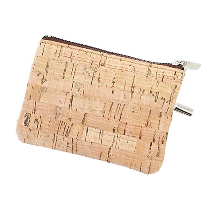 Amazon.com: Eco-friendly Natural Cork Coin Purse, Boshiho ...