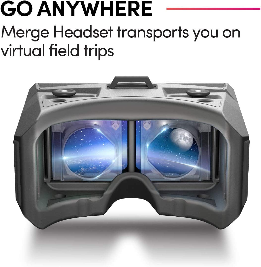 Merge AR/VR Headset - Go Anywhere - Virtual Reality Field Trips and Mixed Reality Learning - Science and STEM Ages 10 and up (Moon Grey)