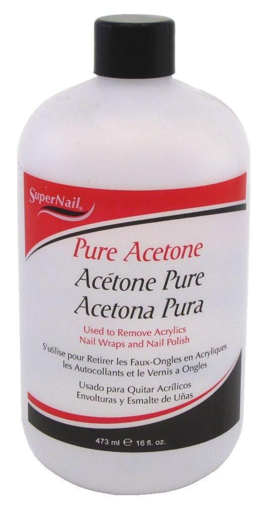 Super Nail Pure Acetone, 16 fl. oz.