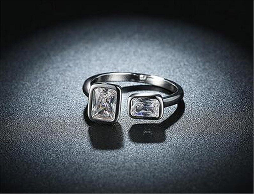 Boowhol Bague Classique Argent Sterling 925//1000 Zircone Cubique Anniversaire Solitaire Fian/çailles Pour Femme Homme