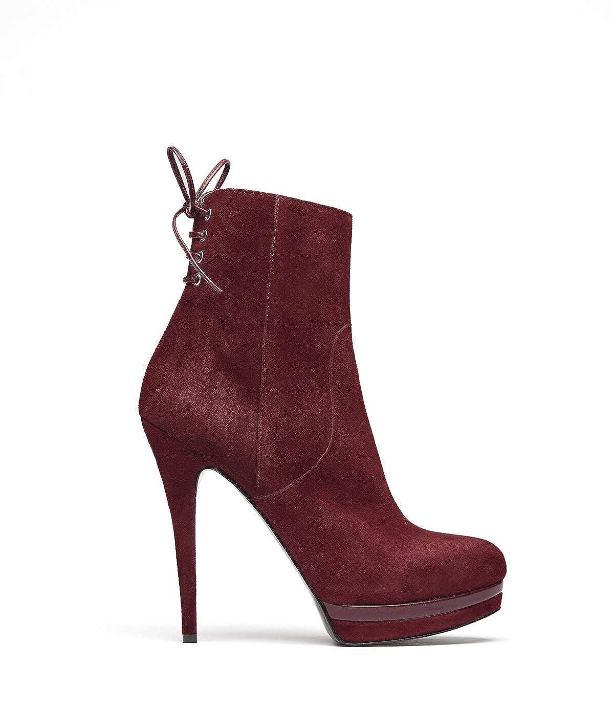 POI Lei - Zapatos de Mujer plateaustiefeletten Edita Rojo Stiletto ...