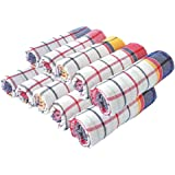 DK Handloom Kitchen Cotton King Chapatis Napkin and Cleaning (Multicolour, 20 x20 cm) - Set of 12