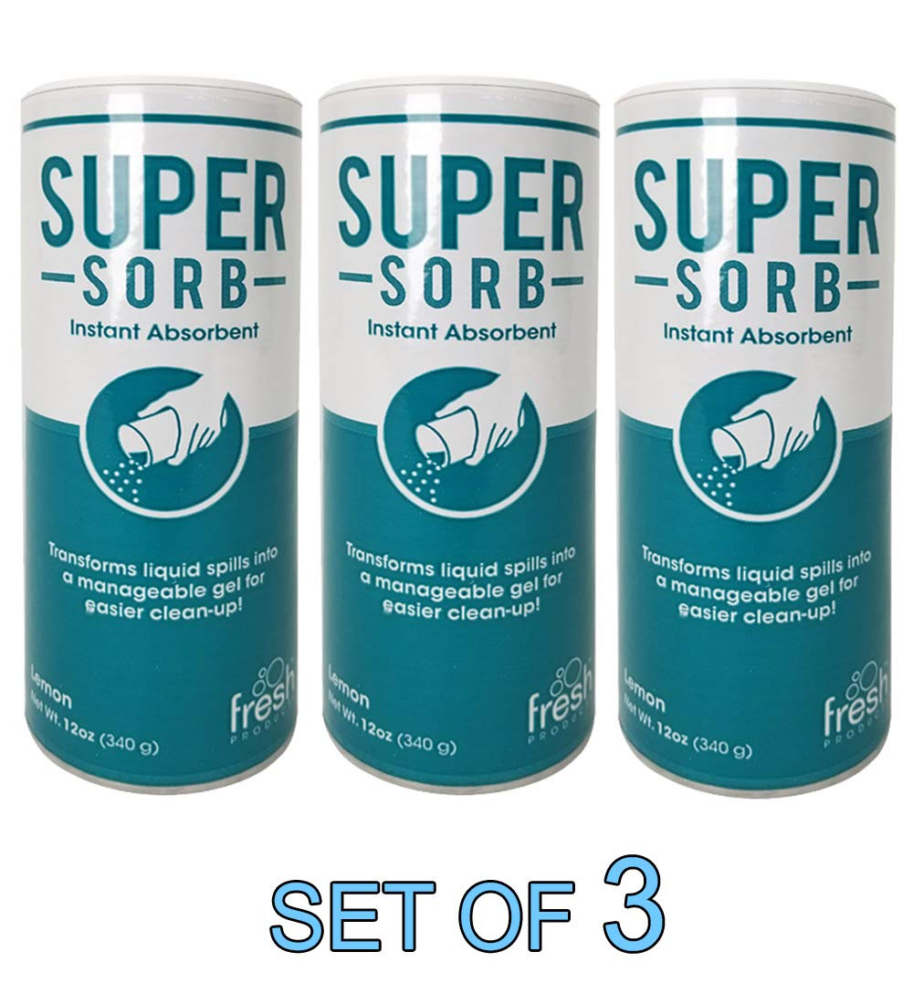 Super Sorb Instant Absorbent Clean Up Vomit 12 oz [Set of 3] by Fresh Products