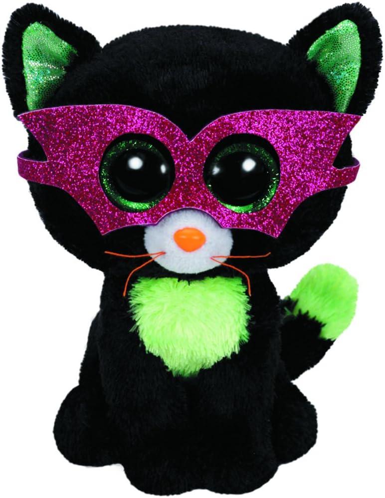 T.Y 41109 - Peluche Halloween (41109) - Peluche Beanie Boos Gato antifaz (15cm), Juguete Peluche Beanie Boos Primera Infancia A partir de 4 años , color/modelo surtido: Amazon.es: Juguetes y juegos