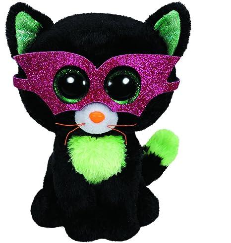 T.Y 41109 - Peluche Halloween (41109) - Peluche Beanie Boos Gato antifaz (15cm