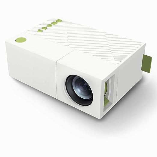 John-L Mini proyector portátil,proyector Cine en casa películas al ...