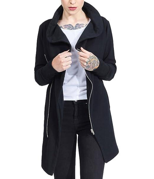 trueprodigy Casual Mujer Marca Sudadera Zip Basico Ropa Retro Vintage Rock Vestir Moda Deportivo Manga Larga Slim fit Designer Cool Urban Fashion Jacket ...