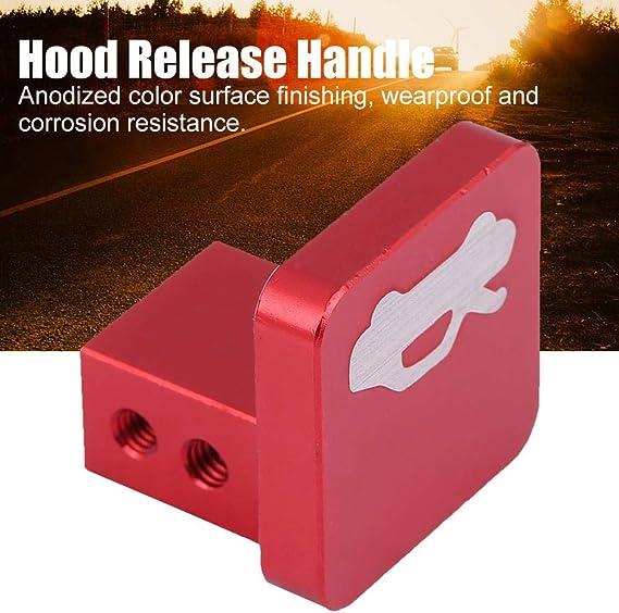 red Acouto Hood Release Latch Handle Opener Repair Screws Wrench Kit for Honda Civic CRV Element Ridgeline