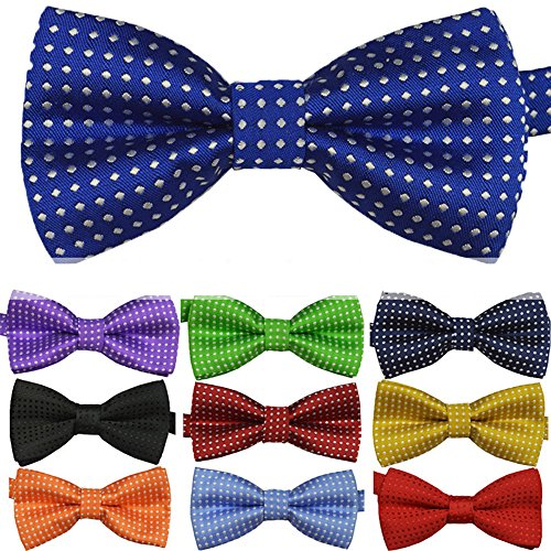 Ainow Boys Children Solid Color Satin Bow Ties/Bowties