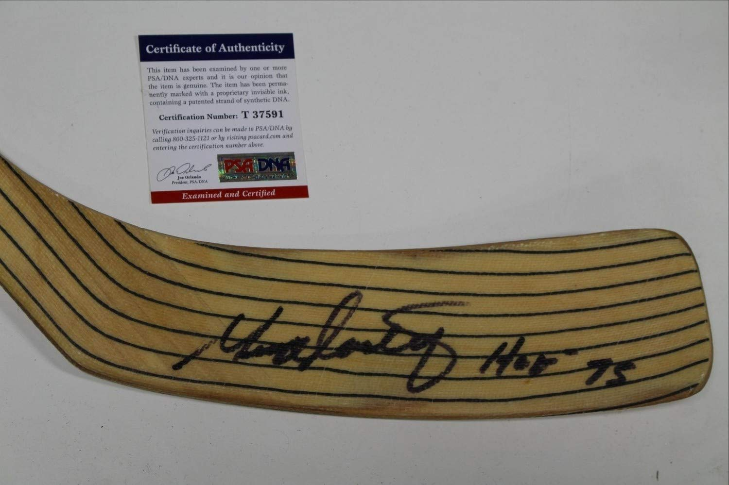 George Armstrong Autographed Signed Hockey Hall Of Fame Full Size Hockey Stick PSA/DNA Authentic