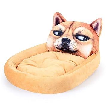FLAMINGO_STORE Dog Bed cat Bed Dog Bed Soft Warm Plush Dog House for Large Dogs Pug