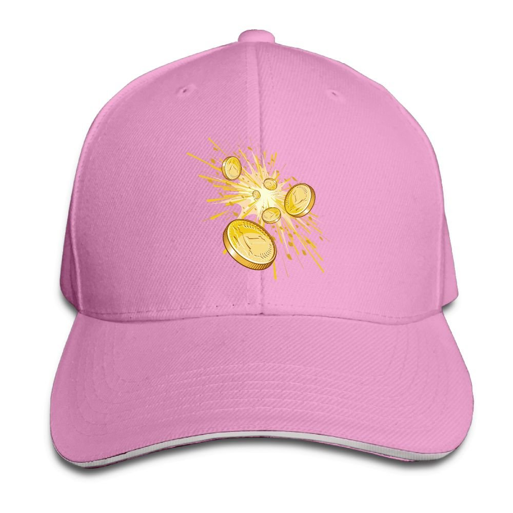 Unisex Sandwich Peaked Cap Cool Shining Cents Art Adjustable Cotton Baseball Caps