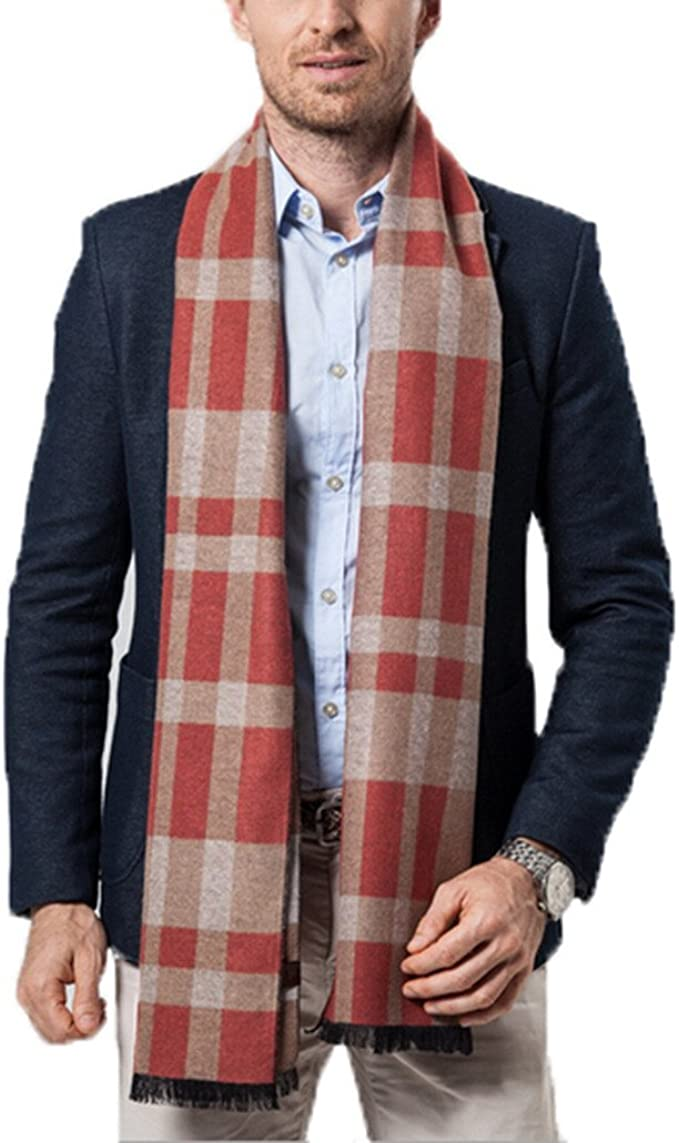 Winter Mens And Womens Scarves Cashmere Collar Thick Plaid