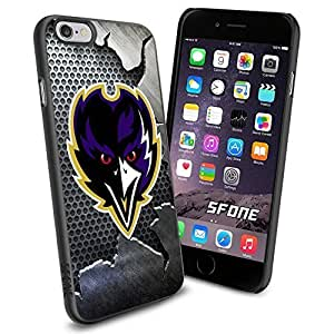 Baltimore Ravens Team Crack Metal Iron BG Logo iphone 4 4s inch Case Black Rubber Cover Protector