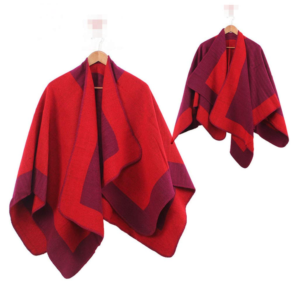 1 ADZPA Women's Scarves Creative Cloak Thick Shawl Bib Autumn And Winter Warm Cashmere,04OneSize