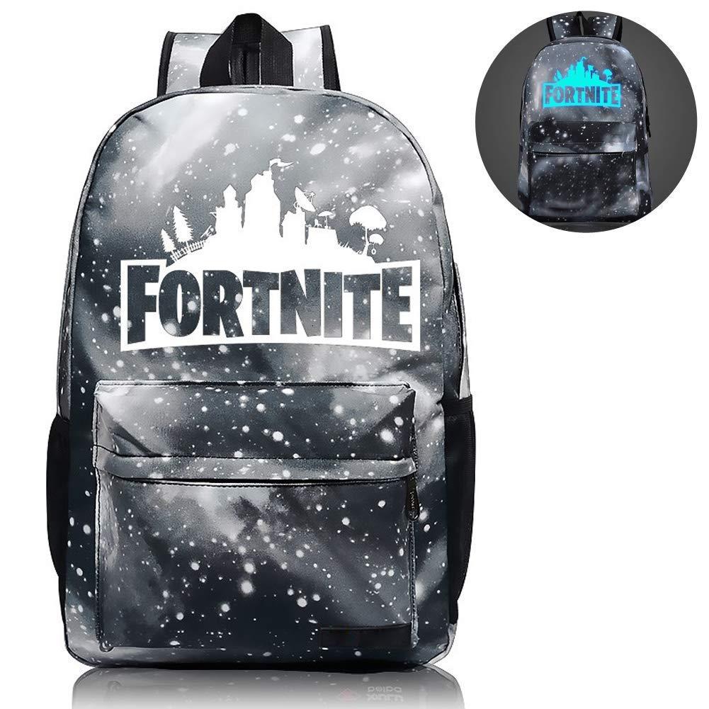 School Backpack Laptop Backpack, Cool Fortnite Backpack Night Luminous Boys&Girls Backpack for Travel, Shopping, School, Student(Black)