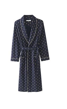Albornoz de los hombres Pijamas de algodón de primavera y otoño/Fashion dot Vestido de