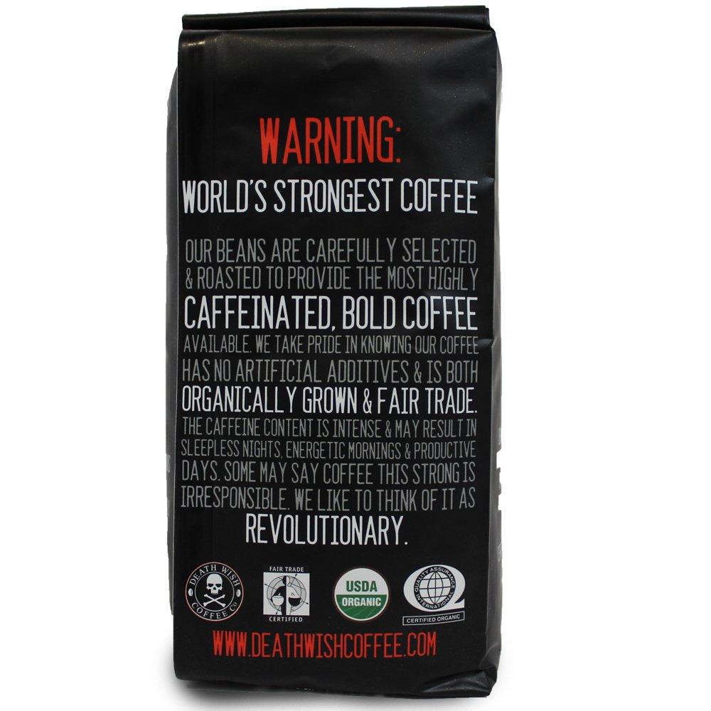 Amazon.com : Death Wish Ground Coffee, Dark Roast, 16 Ounce ...