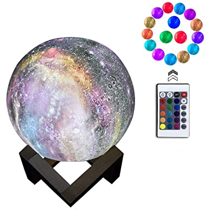 Star Night Light for Kids Galaxy Moon Lamp 16 Colors LED 3D