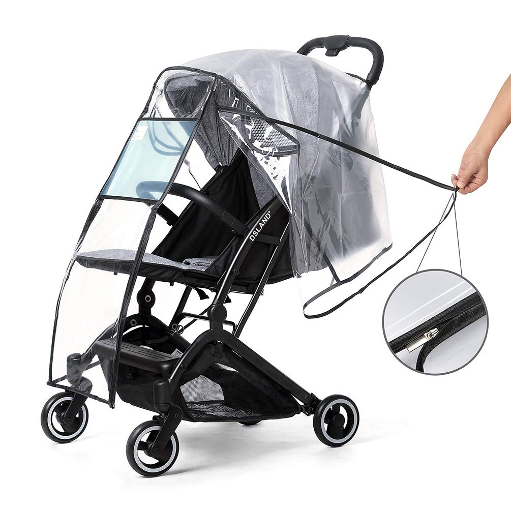 Travel Buggy Rain Cover Transparent Rain Waterproof Pushchair Stroller Carriage