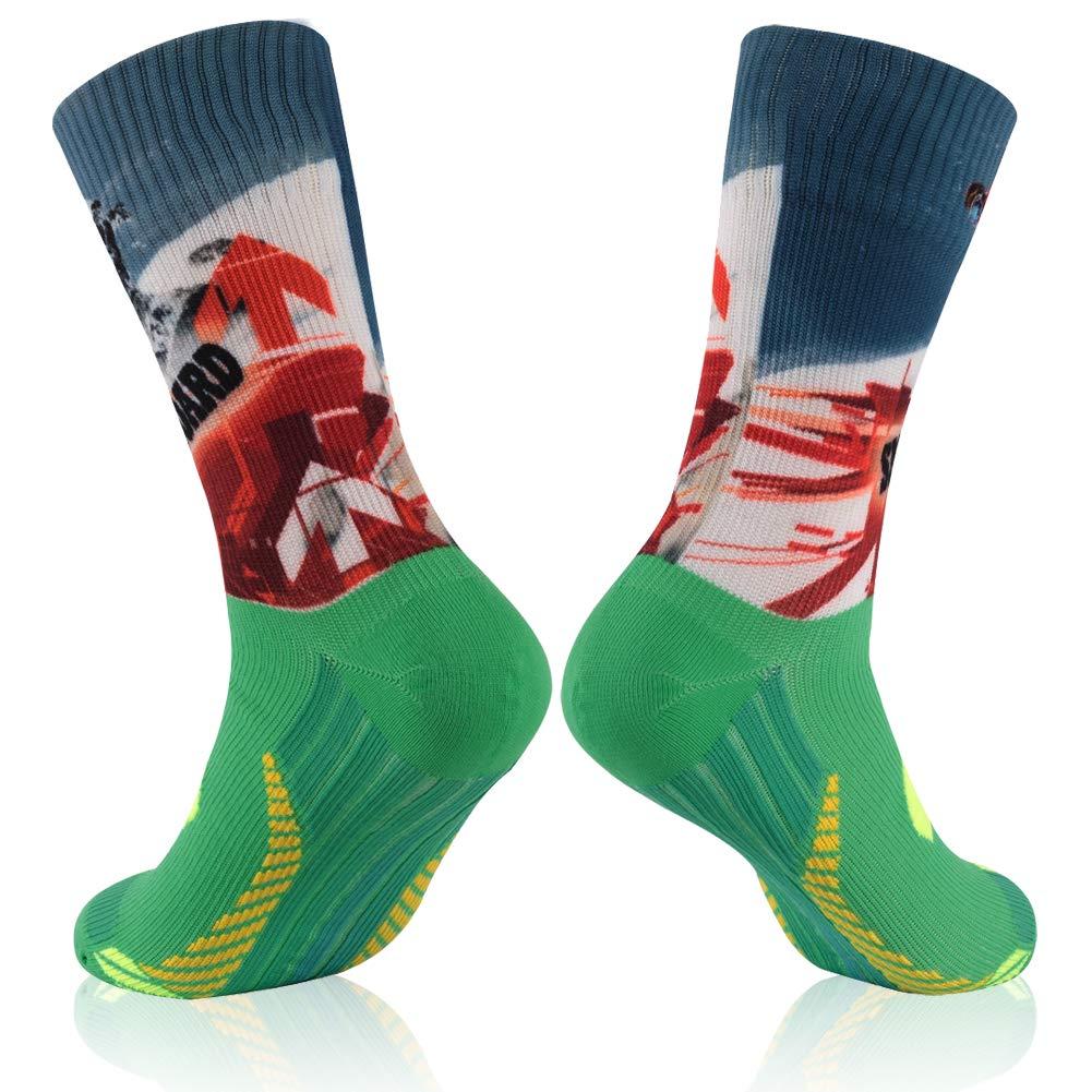 100% Waterproof Socks, RANDY SUN Unisex Waterproof Breathable Cycling Running Trekking Socks, 1 Pair Mid Calf Medium by RANDY SUN