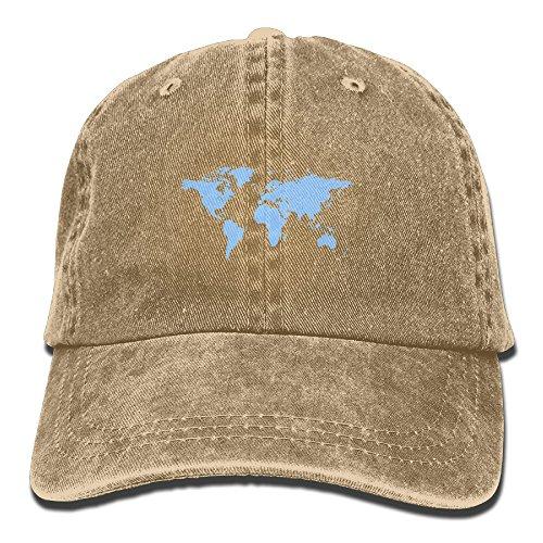 Headgear Cap Denim (Mens Girls Hunting Cap,World Map Denim Hat For Men Women Unisex)
