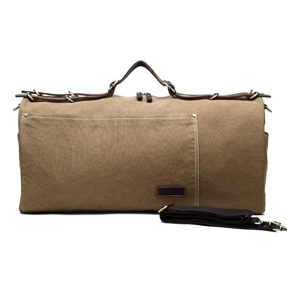 旅行ダッフルバッグ旅行バッグ、キャンバス、ショルダーバッグ、ハンドバッグ、潮、大容量旅行出張、レジャーフィットネスバッグ 旅行用ハンドバッグ (色 : ベージュ) B07QLTNSTQ ベージュ