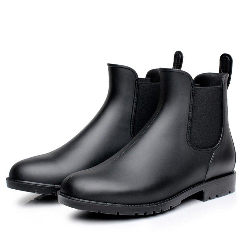 Chelsea pour Boots pour Femme Bottines de sans Pluie de Imperméable Caoutchouc Bottes sans Lacets Noir d94e354 - jessicalock.space