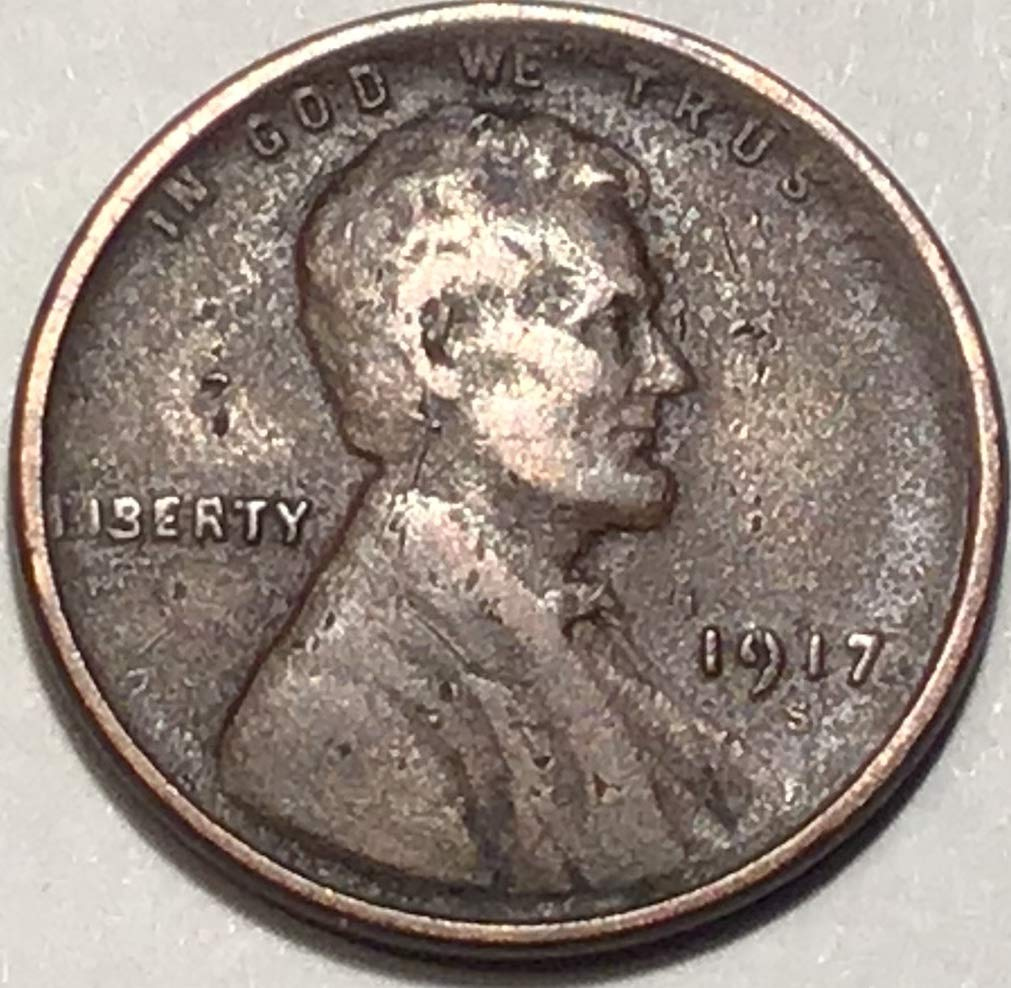 1917-S  Lincoln Wheat Cent in VF