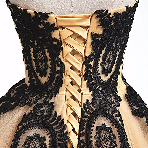 Black And White Gothic Wedding Dresses 2015 Custom Made: Black Lace Long Tulle A Line Prom Dresses Evening Party