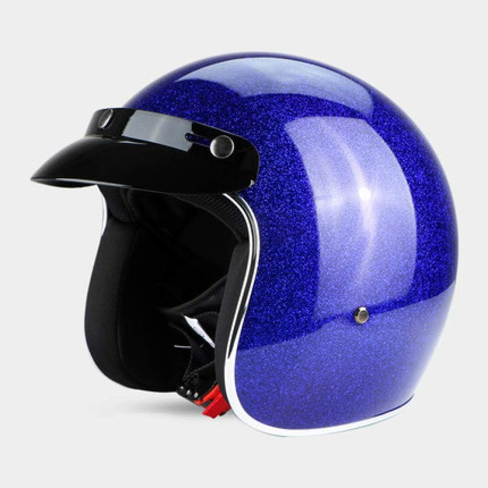 Berrd Frp Retro Open Face Motorradhelm Half Jet Retro Helm Blau M