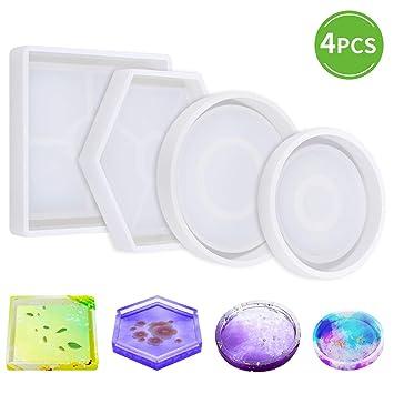 Amazon.com: Molde de silicona para posavasos de bricolaje ...
