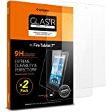 Spigen Screen Protector for Fire 7 Tablet / 2 Pack / Tempered Glass / 5th Generation 2015 release