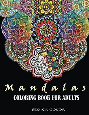 Mandala Coloring Book For Adults Mandala Coloring Book Bonus Track 60 Free Mandalas Coloring Pages Pdf By Color Sedica Amazon Ae
