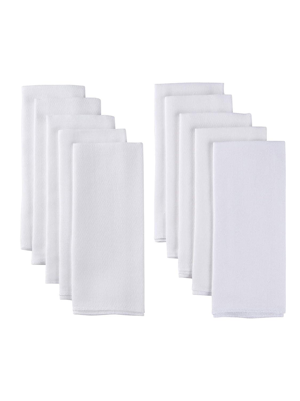 Gerber 10 Pack Organic Prefold Birdseye Diaper with Pad