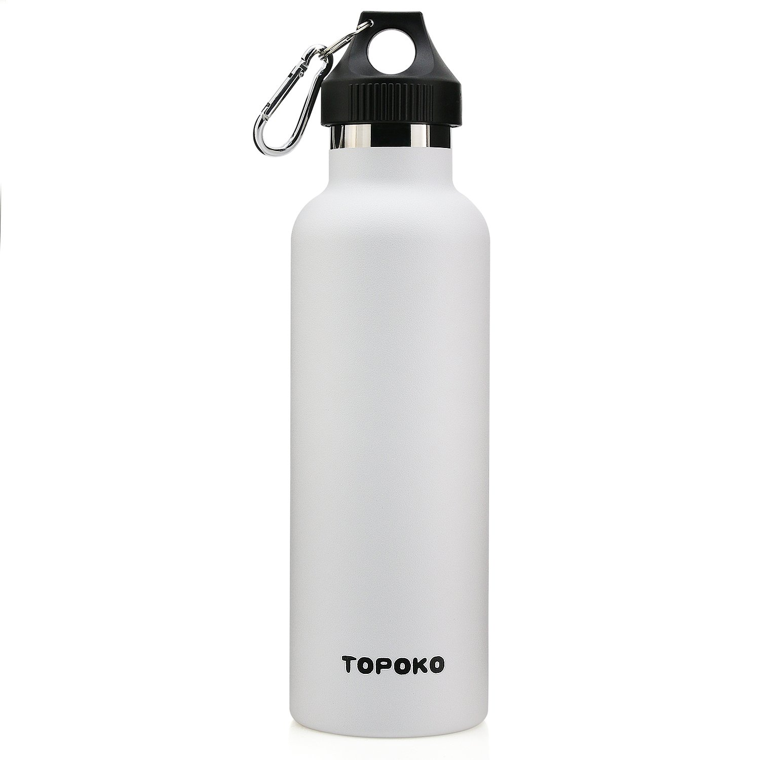 TOPOKO 25 oz Stainless Steel Vacuum Insulated Water Bottle, Keeps Drink Cold up to 24 Hours & Hot up to 12 Hours, Leak Proof and Sweat Proof. Large Capacity Sports Bottle (White) 141[並行輸入] B075D4YKS8