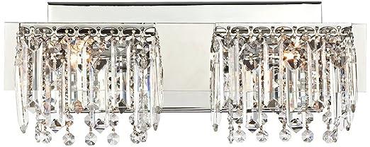 Possini Euro Design Hanging Crystal 16 1/2u0026quot; Wide Bath Light