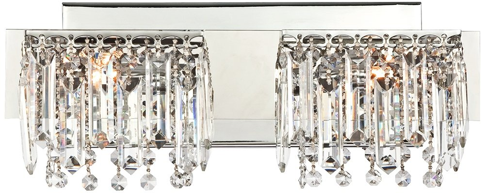 Possini Euro Design Hanging Crystal 16 1/2'' Wide Bath Light